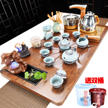 Tea set tea sets home simple modern tea ceremony living room flowing tea plate tea table one kung fu teapot tea art