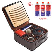 Travel outdoor tea set portable brewed tea stove car kung fu tea set car car field kettle to drink tea to make tea.
