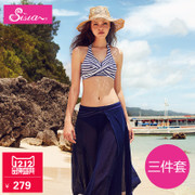 Sisia sexy bikinis three piece big chest small chest gather thin split triangle female swimsuit swimsuit Spa