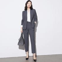 Professional suit suit suit female spring and autumn high-end workplace suit temperament overalls female senior sense business dress overalls