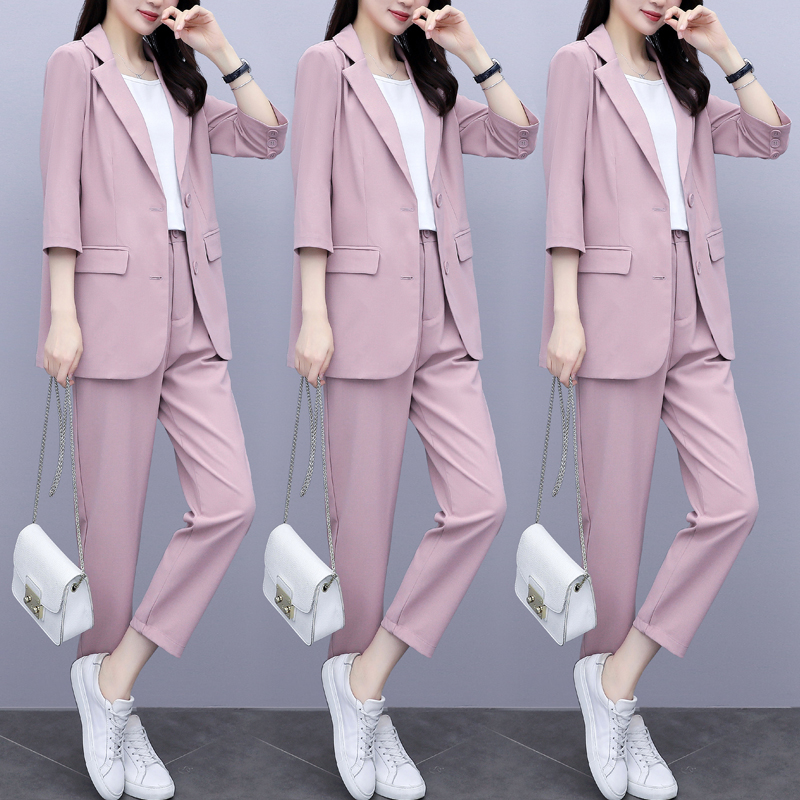 Blazer women 2021 summer new Korean style temperament fashion womens professional clothing net red casual suit suit