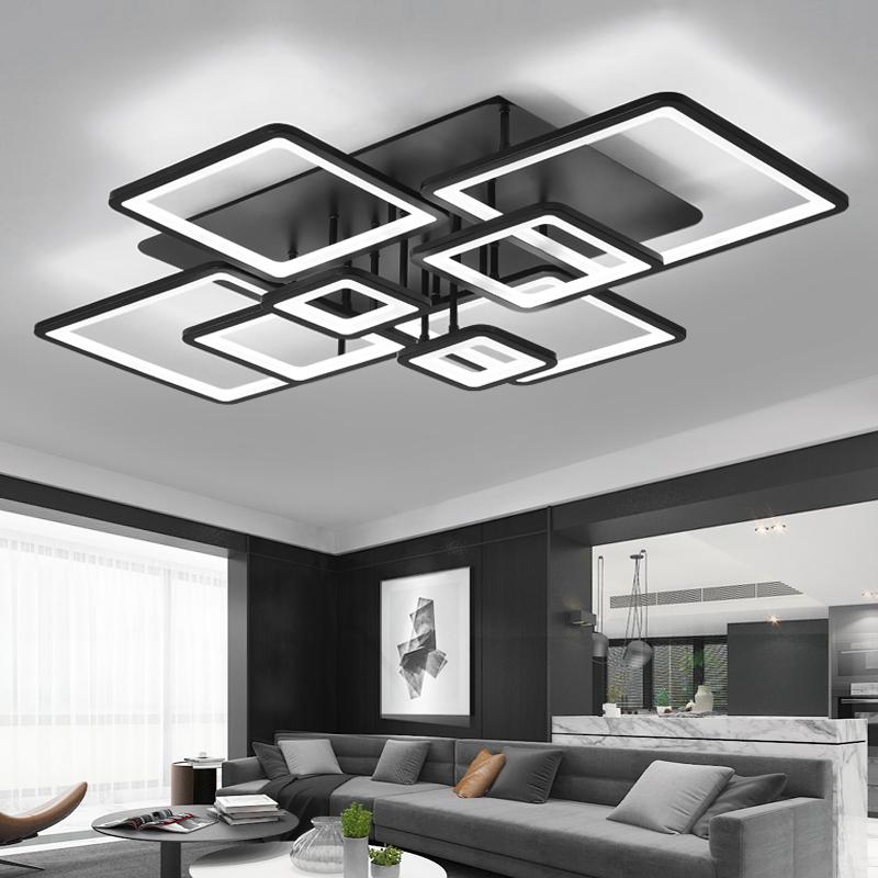 Living room lamp 2021 new simple modern atmospheric square LED ceiling lamp bedroom lamp Nordic dining room lamp