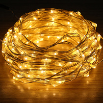 Su Cai 10 meters copper wire lamp flash string lights fire tree silver flower DIY decoration night light romantic Star Light New Year light