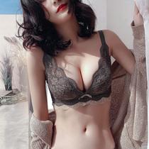 Кружевное белье костюм маленький лиф собранный закрытие пара груди на косточках без косточек регулируемый сексуальный бюстгальтер капот внутри женское белье