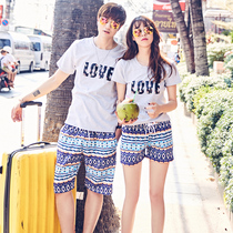 Beach pants couple quick dry loose big code men and women shorts Five points seaside holiday surf swimming big underwear Summer