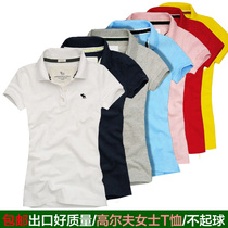 Spring and summer new womens golf Costume Lady T-shirt short-sleeved ball clothes polo shirt Slimming Elastic Big code T-shirt