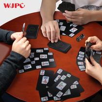 Soliton mahjong plastic home small portable travel mahjong cards thickened waterproof mahjong 144