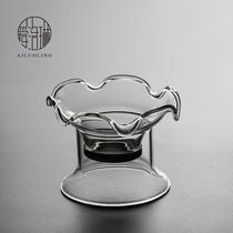 Илолин чай церемонии нулю с справедливой чашки толщиной жаростойкий стеклянный чай утечки большого диаметра чай барьер нержавеющей стали фильтр.