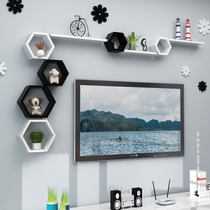 Wall shelf living room TV background wall partition film wall hanging decorative wall Cabinet Room Creative grid