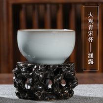 View the restoration museum imitates the Guan kiln tea cup personal special single cup Jingdezhen ceramic master cup high-end single tea cup