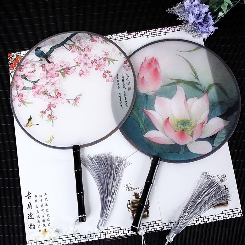 Fan Children's Ancient Style Hanfu Petal-shaped Han Dynasty Fan Children's Ancient Style Ancient Clothing Photographs