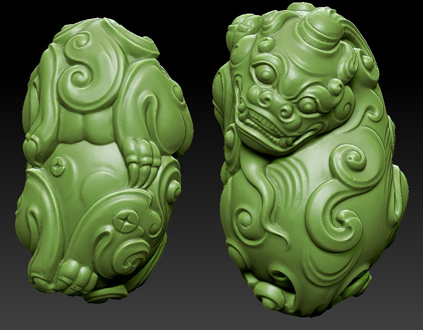 Fine carving 3-D solid 3D STL round carving Jade carving wood carving animal raccoon carving Figure 1