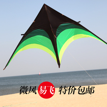 Weifang kite childrens Prairie umbrella cloth kite breeze fly triangular kite adult large new distribution wheel