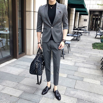Summer thin section Korean version of the cropped trend of the slim little suit