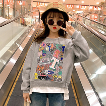 Girls spring 2020 new Korean version of the fashionable in the Big child Yang Qi bottoming shirt children Wild sweater women spring and autumn tide