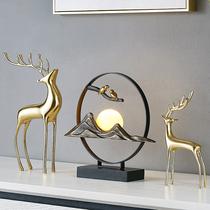 Crémaillère moderne nouvelle maison cadeau décoration couloir vin coffret mariage cadeau décoration de la maison lumière luxe créatif cerf