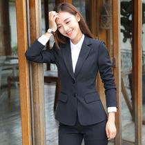 Costume costume femmes ol vêtements de travail vêtements de travail version coréenne féminine du tempérament de la mode est habillé comme les étudiants interviewent costumes d'automne et d'hiver