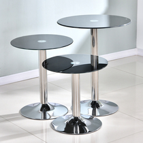 Round tempered glass table Business negotiation round table Guest table Household dining table Coffee table Exhibition table table