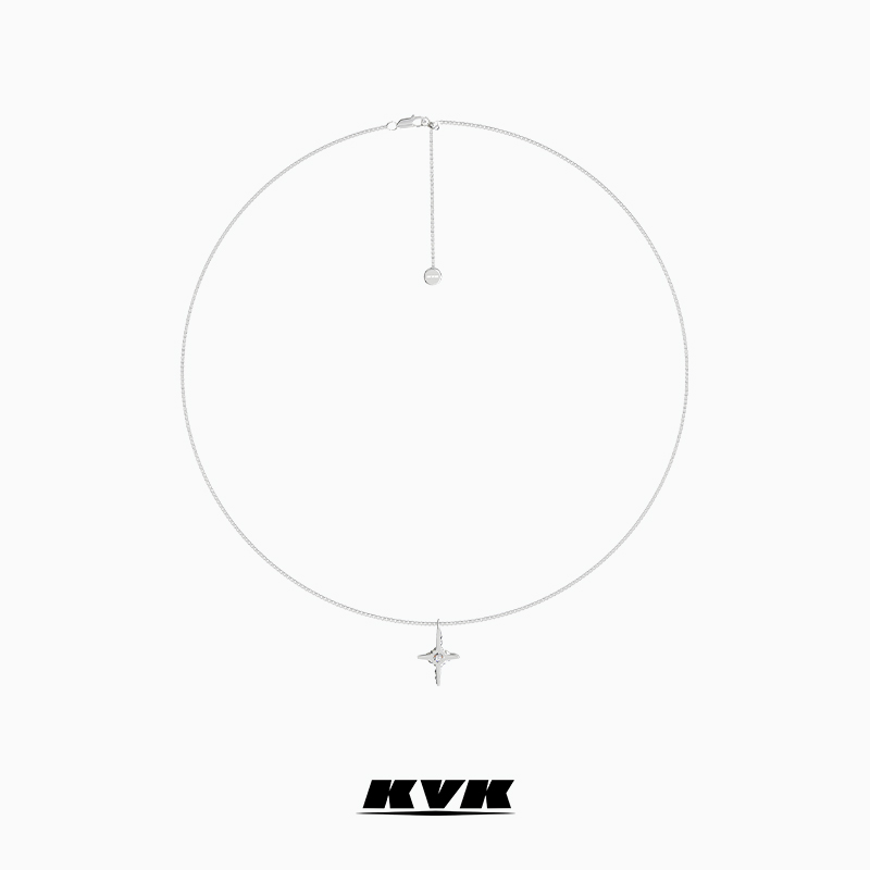 KVK cross necklace female collarbone chain 2021 new women adjustable pendant jewelry high-level simple accessories