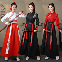 Graduation photo improvement of ancient costume Chinese clothing female Chinese style handed over ancient style male martial arts clothing student couple class suit