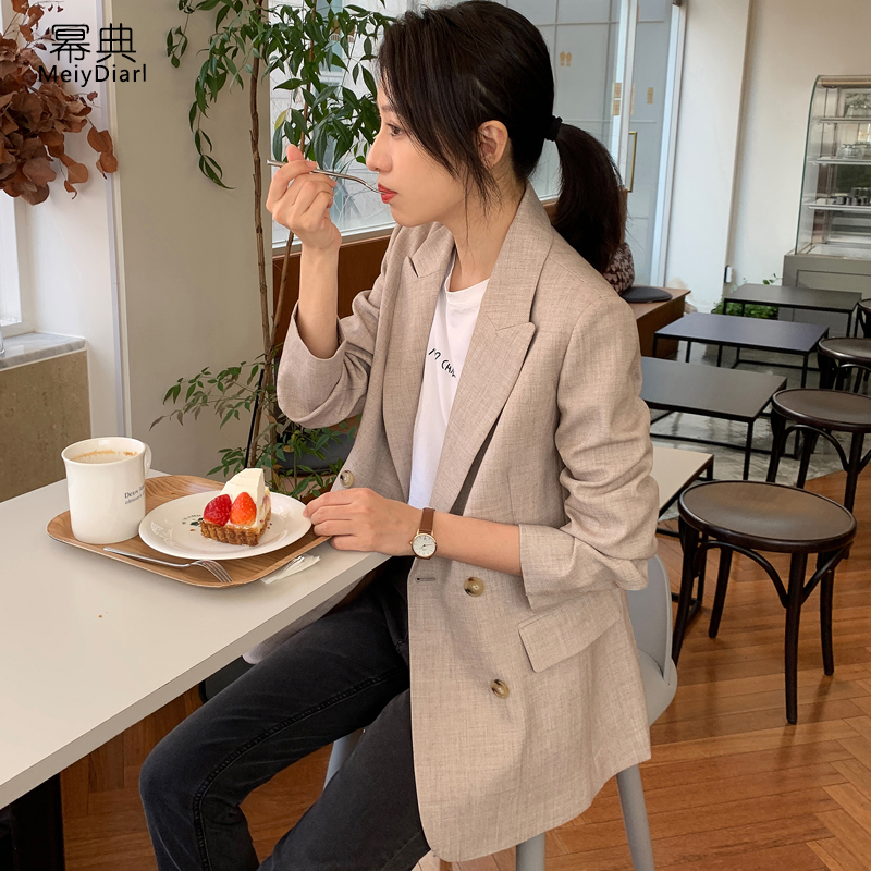 Casual small suit women 2021 spring and autumn new Korean version loose fashion jacket temperament net red short suit top