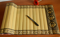 Blank bamboo jane custom bamboo book simple carvings bamboo 籤 hand-written bamboo pieces to the wedding book creative gifts