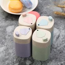 Home fully automatic press Toothpick tube wheat fiber toothpick bottle exquisite sanitary toothpick box toothpick tank hand pressure