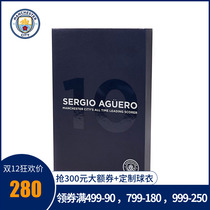 (official authentic) Manchester City Sergio Aguero Aguero breaks record badge set