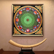 The Gate of Tang Dynasty Tangkaji auspicious eight treasure altar city jinxing wheel Xizang hand-painted large size town house decoration and hanging painting Nepal