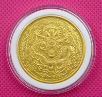 Antique collection of Daqing gold coins Guangxu C noon gold coin library flat one or two yuan shot