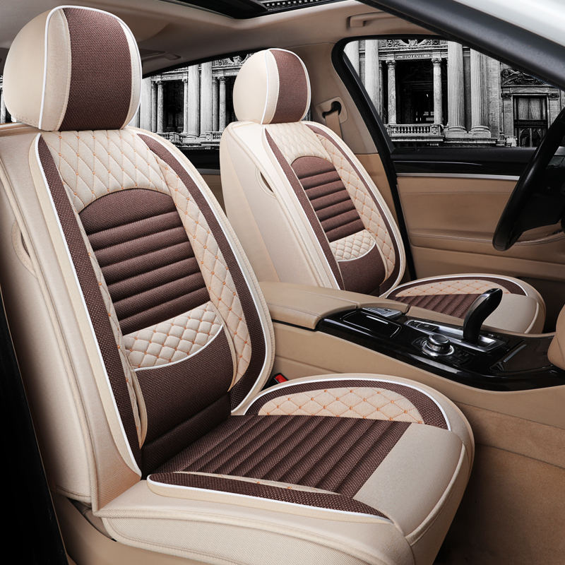 The 17 car seat cushions are fully surrounded by linen seat sleeves Honda Sprout XRV Honda CRV fabric seat sleeves