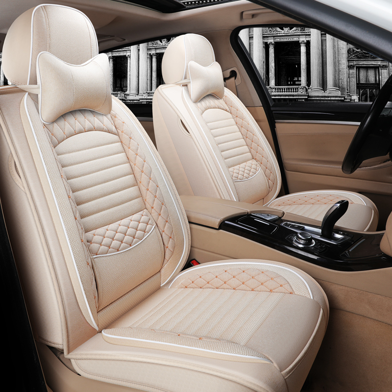 Car cushion fabric linen Dongfeng Honda CRV 2015 XRV Jed 5-seat fully surrounded womens seat cover