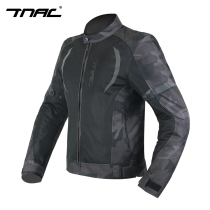 TNAC Topchi summer motorcycle riding clothing men and women mesh breathable camouflage anti-fall reflective motorcycle clothes jacket