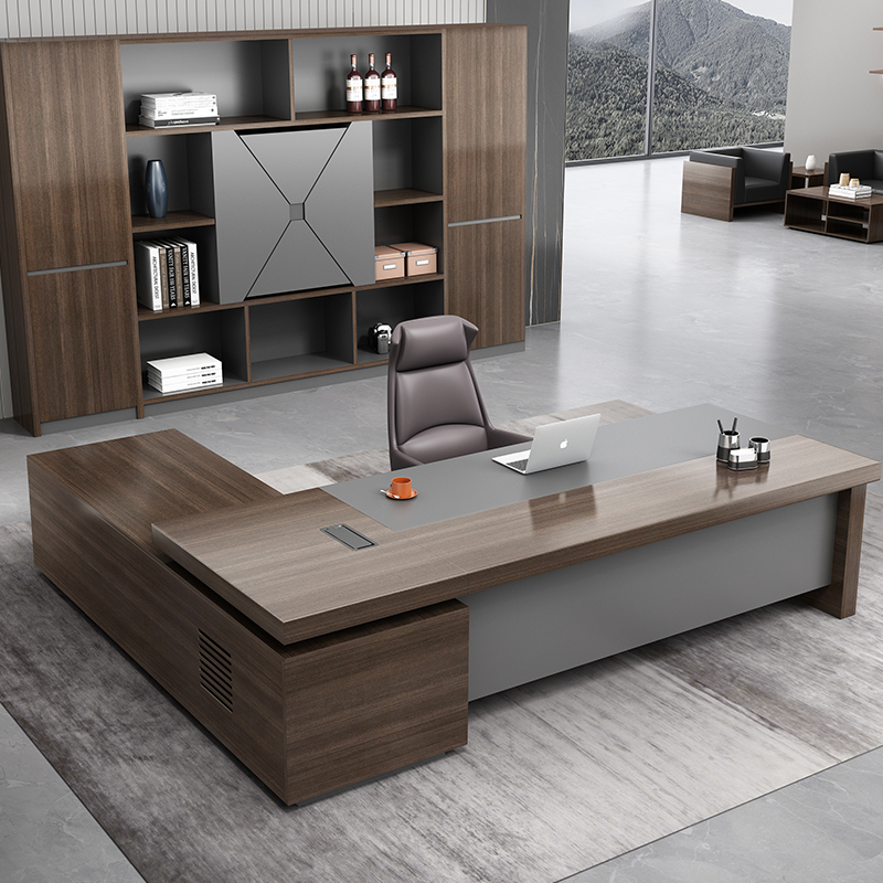 Desk boss table simple modern big class president table manager table supervisor table single desk chair combination