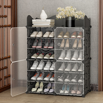 Simple shoe cabinet door put home economy space storage artifact multi-layer dust room good-looking shoe shelf