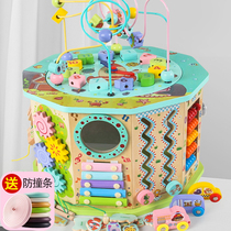Beaded beaded children educational toys 0-1-2-3 years old baby early childhood treasure chest around the beads puzzle toys 6