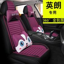 Car cushions four seasons gm Buick Ingrangt cartoon cute goddess linen dedicated to surround the winter seat cover