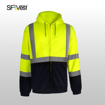 SFVest reflective clothing pants thick cotton T thick autumn and winter traffic safety night light coat night riding reflective clothing