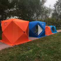 Ice Fishing tent Ice House cold resistant wind thickening coloring warm winter fishing single tent with ice nail pull rope