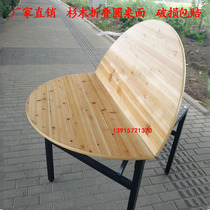 Large round table 10 people 15 people 20 people 2 meters 2 meters household dining table Fir folding solid wood hotel round table
