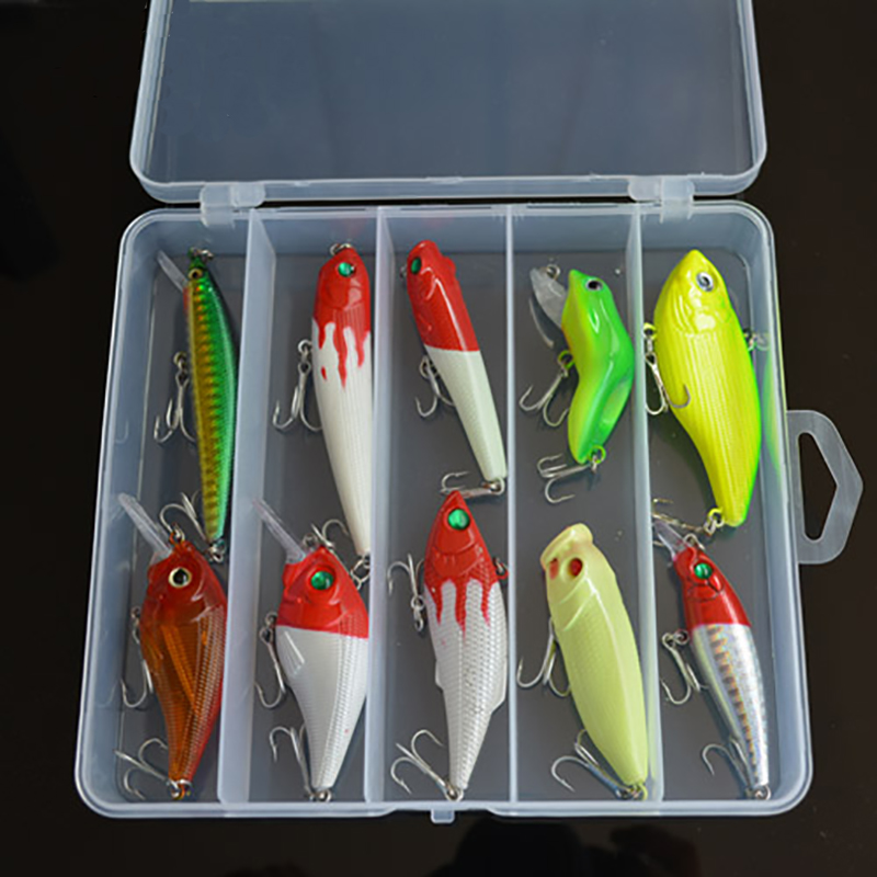 Hasta Luya bait box set Lei frog Minuobo 扒 VIB rock chubby pencil sea fishing long shot hard bait