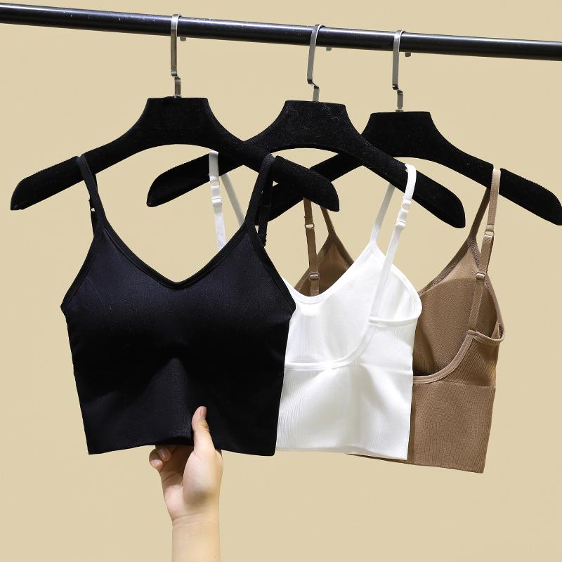 Kakau-type beauty back small sling net red explosive vest inside the woman hit the bottom shirt outside wearing a belt chest pad underwear