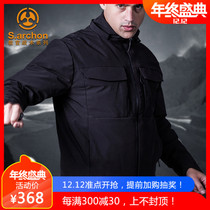 Outdoor commuter tactical duvet man warm cotton suit waterproof cold windbreaker thickening Military fan tactical jacket