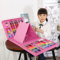 Childrens brush set painting watercolor pen pupils painting tools stationery art supplies girl birthday gift