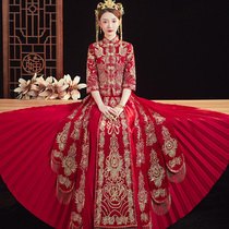 Xiu wo service bride 2020 new wedding toasting service Pavilion service Chinese wedding dress wedding dress embroidered wo service spring