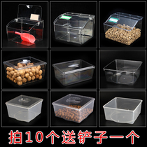 Supermarket candy box sauce food box high transparent display box plastic box dried fruit cover Bulk display large