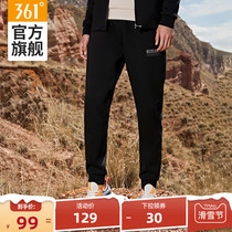 361 sweatpants mens 2020 autumn winter model thick knitted trousers leggings loose mens small foot casual pants