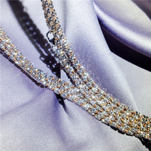 Muhuang Jewelry Shop: 18K Gold Necklace, Multi-faceted, Dual-color, 22-inch Italian Diamond Chain