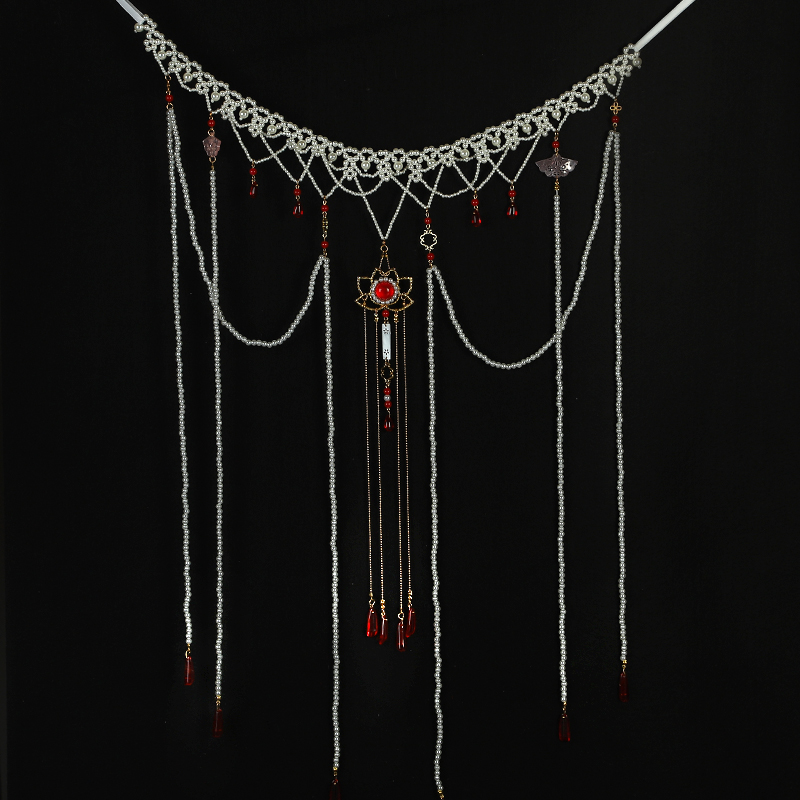 Han clothing waist long-flowing Su pearl tan collar chest 襦 skirt ancient cheongsam accessories accessories spot