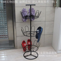 Hanging Shoe rack outdoor balcony Special simple slippers hanger floor shoe device Creative Assembly iron drying Rack